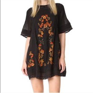 Free People perfectly victorian black mini dress